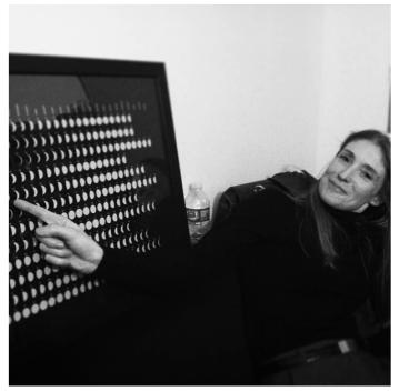 Daniela with the Moon Clock