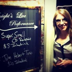First CD Release - Cornelia Street Cafe, NYC.
