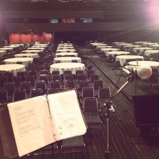 Pre-show rehearsal with The Amygdaloids. .