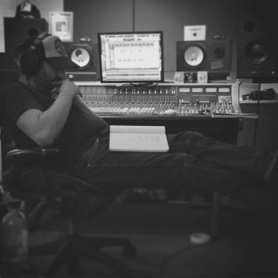 Tom Busy Mixing.