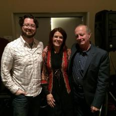 Colin, Rosanne Cash and Dr. Joseph LeDoux. NYC.