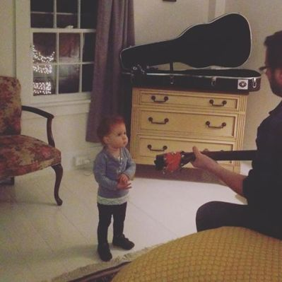 Pre-show warm up w/ Evelyn.